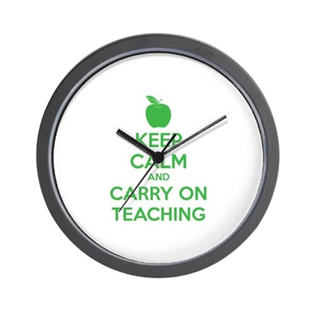 Keep calm and carry on teaching Wall Clock