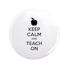 "Keep calm and teach on 3.5"" Button (100 pack)"