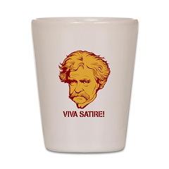 Twain Viva Satire Shot Glass