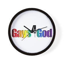 Gays4God2.0 Wall Clock