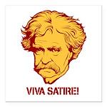 "Twain Viva Satire Square Car Magnet 3"" x 3&qu"