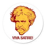 Twain Viva Satire Round Car Magnet