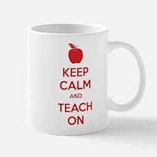 Keep calm and teach on Small Small Mug
