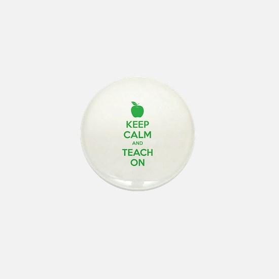 Keep calm and teach on Mini Button