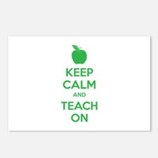 Keep calm and teach on Postcards (Package of 8)