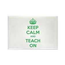 Keep calm and teach on Rectangle Magnet (10 pack)
