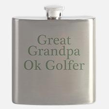 Great Grandpa OK Golfer Flask