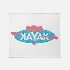 Cute Kayak Throw Blanket