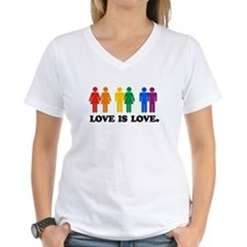 3-Gay Humor Love is love colors T-Shirt