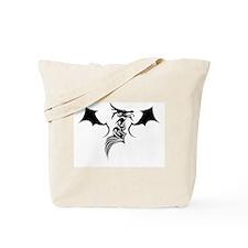 Winged Tribal Dragon Tote Bag