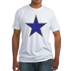 The Rising Dark Blue Star Fitted T-Shirt