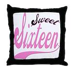 Sweet Sixteen Throw Pillow