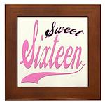 Sweet Sixteen Framed Tile