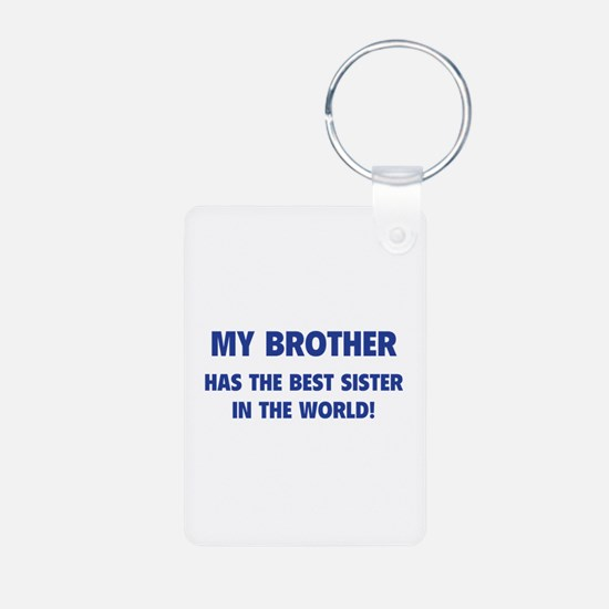 My Brother Aluminum Photo Keychain