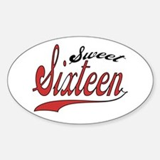 Sweet Sixteen Oval Decal