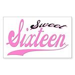 Sweet Sixteen Rectangle Sticker