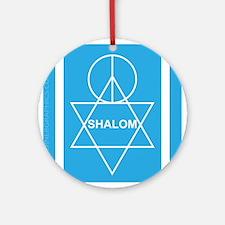 Shalom Peace Ornament (Round)