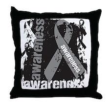 Brain Tumor Awareness Throw Pillow