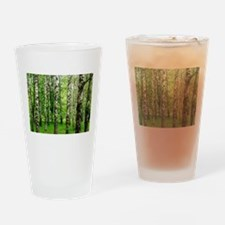 Forest view with birch trees spring Drinking Glass