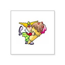 """Ice Cream Square Sticker 3"""" x 3"""""""