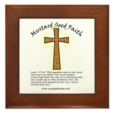 Mustard Seed Faith Framed Tile