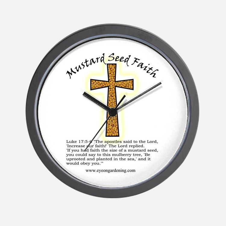 Mustard Seed Faith Wall Clock
