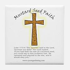 Mustard Seed Faith Tile Coaster