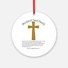Mustard Seed Faith Ornament (Round)