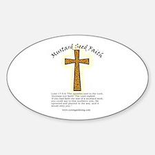 Mustard Seed Faith Oval Decal