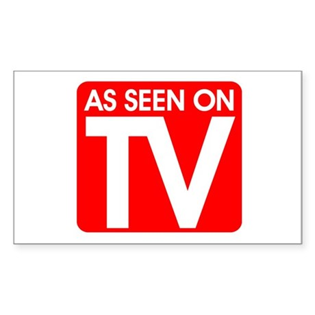 As Seen On TV Rectangle Sticker