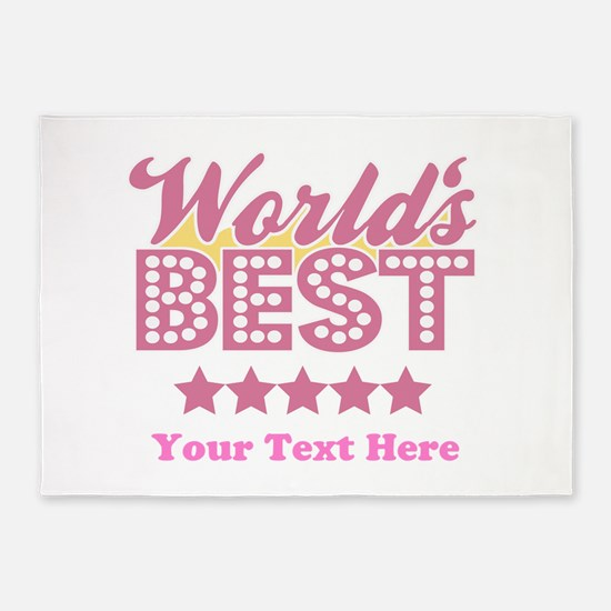 Customize Worlds Best 5'x7'Area Rug