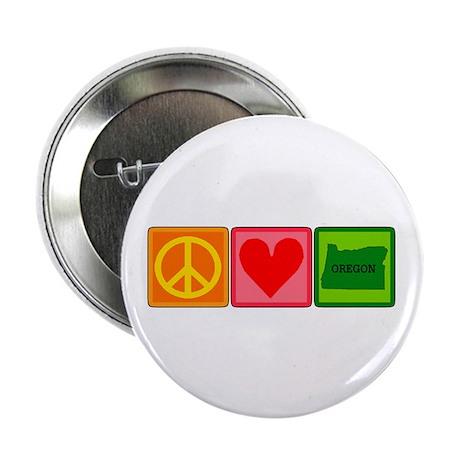 "Peace Love Oregon 2.25"" Button (100 pack)"