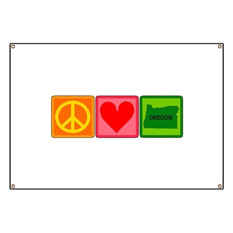 Peace Love Oregon Banner