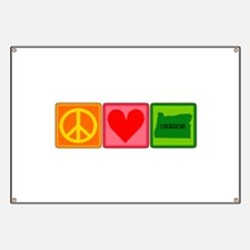 Peace Love Oregon Banner