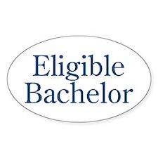 Eligible Bachelor Oval Decal