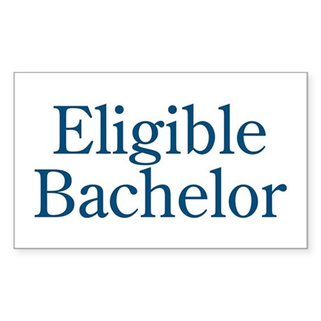 Eligible Bachelor Rectangle Sticker