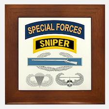 Special Forces CIB Framed Tile