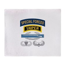 Special Forces CIB Throw Blanket