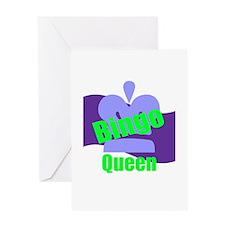 Bingo Queen Greeting Card