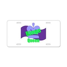 Bingo Queen Aluminum License Plate