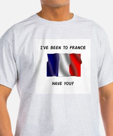 French flag Ash Grey T-Shirt