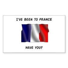 French flag Rectangle Decal