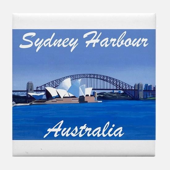 Sydney Harbour Painting Tile Coaster