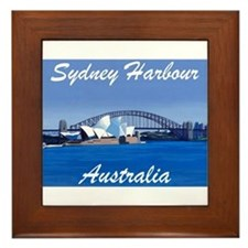 Sydney Harbour Painting Framed Tile