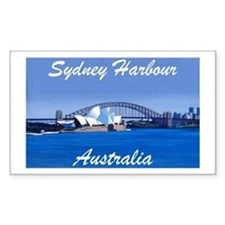 Sydney Harbour Painting Rectangle Decal