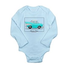 Funny 57 chevy Long Sleeve Infant Bodysuit