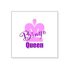 "Bingo Queen Square Sticker 3"" x 3"""