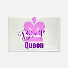 Bingo Queen Rectangle Magnet