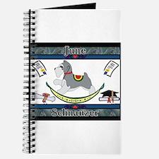Schnauzer Rocking Dog Journal