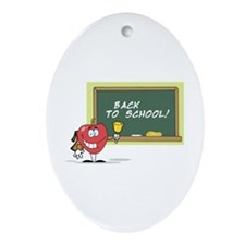 Back To School Ornament (Oval)